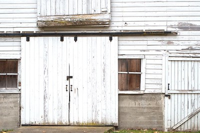 Door on one of the old barns at Nisqually National Wildlife Refuge