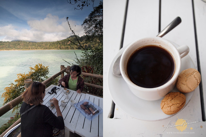 Enjoying Coffee with the view