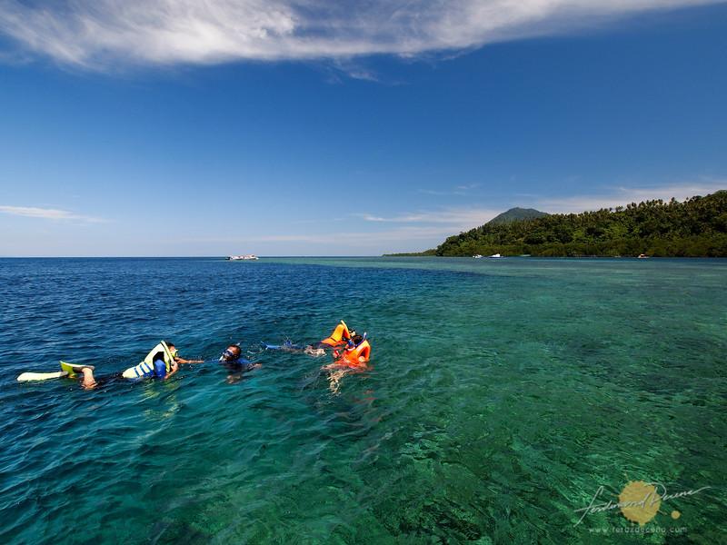 The turquoise waters of Bunaken Island