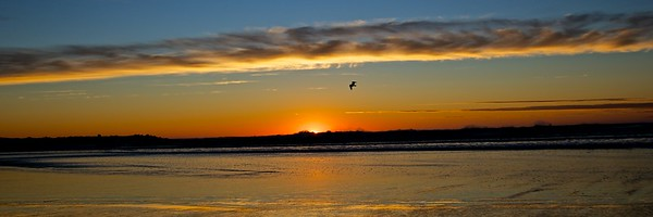 Sunset at Ocean Shores, Washington