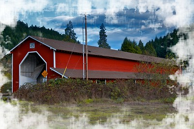 The Office covered bridge near Oakridge, Oregon