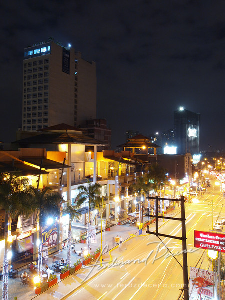 View from the roofdeck, the busy Makati Avenue