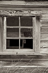 Window in farm building in the Palouse