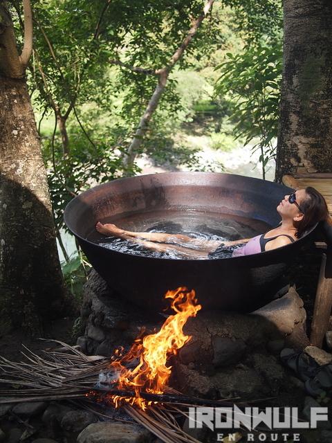 Relaxing at the Kawa Hot Bath