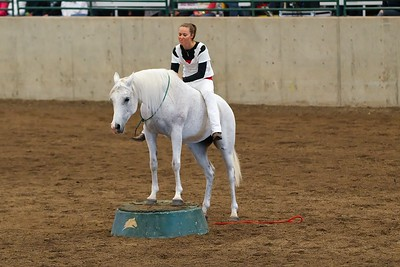Lillan Roquet and her Arab mare perform at the Parelli 2012 Horse & Soul Tour stop in Puyallup, WA