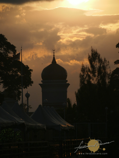 The sun setting over this Muslim City