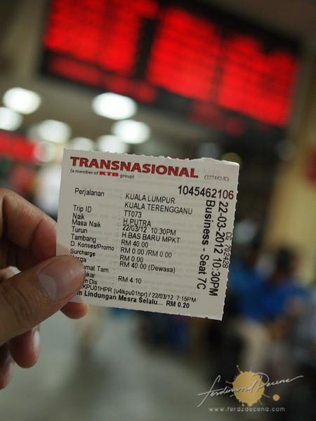 My bus ticket