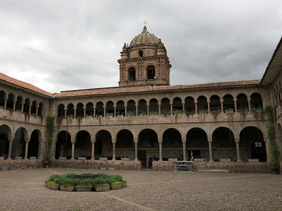 The beautiful Santo Domingo monastery built over Qoricancha, Cusco