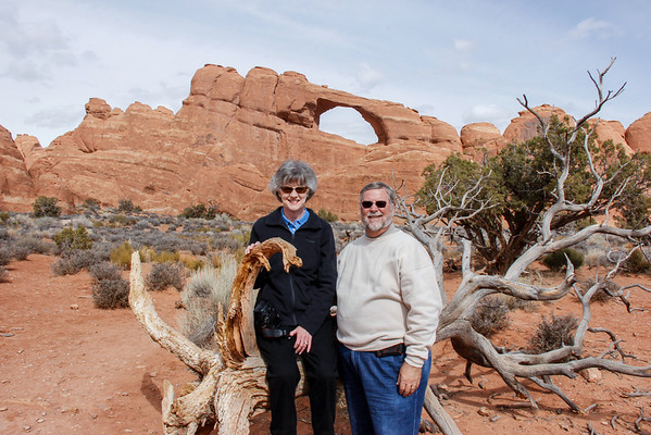 Posing with Skyline Arch in the background