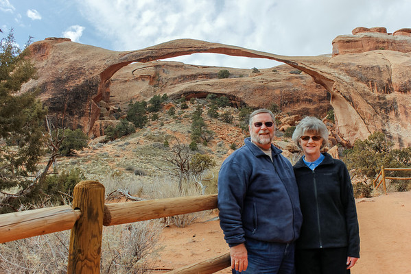 Had to get a picture in front of Landscape Arch