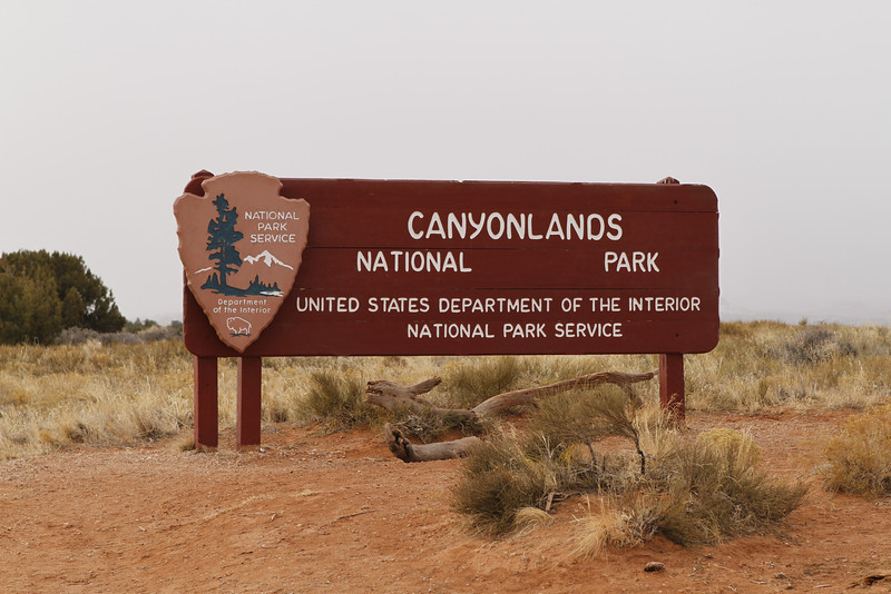 Entering Canyonlands National Park about 30 miles outside of Moab, Utah