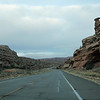 Driving on Route 313 toward Dead Horse Point State Park