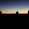 The West Mitten, the East Mitten and Merrick Butte at sunrise - February 25, 2012