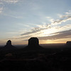 Sunrise in Monument Valley - February 26, 2012