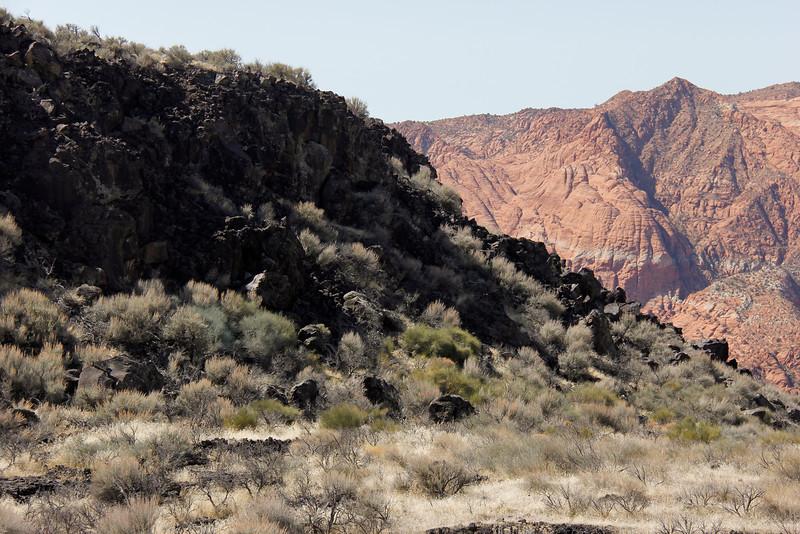 Scene around Snow Canyon