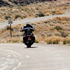 Biker's break is over and he is back on the road