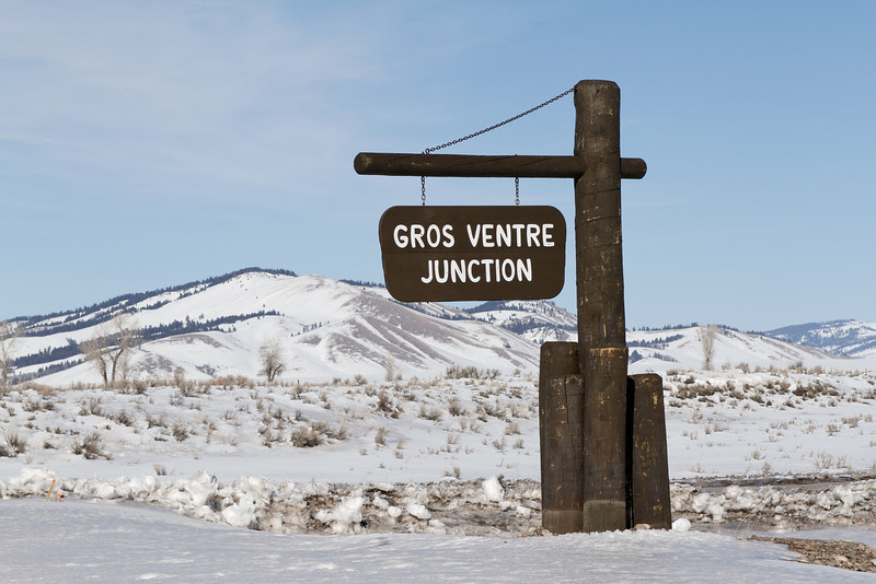 "Gros Ventre is French for ""Fat Belly"" - This valley is known for wildlife in the winter."