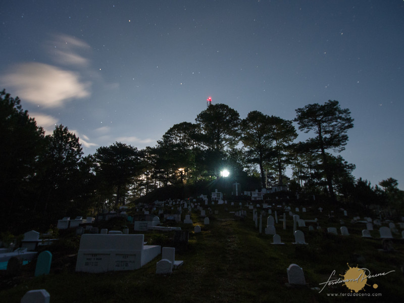 The cemetery on its usual nights
