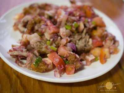 Masfere Binagoongang Chicharon with Tomatoes