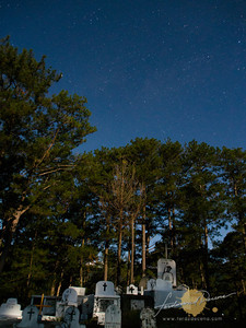Sagada Local Cemetery at Night