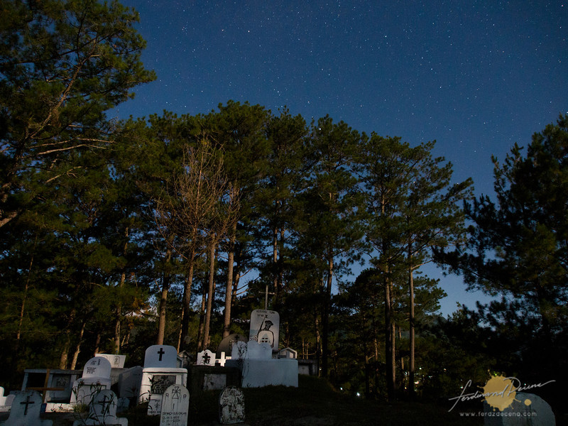 The Sagada Cemetery, a quiet site the night before the Panag-apoy