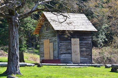 Another shot of the shack at San Juan Island County Park.
