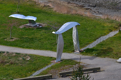 Metal Art in a park at Roche Harbor, WA.1