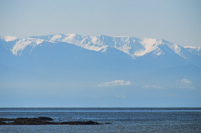 Looking across the staight to the Olympic Mountains.