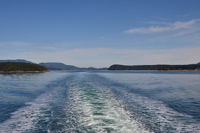 Looking to the aft of the ferry as we head towards San Juan Island.