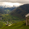 The lowland valleys are nice and welcoming, and about 12C warmer than the passes. Here, the town of Andermatt.