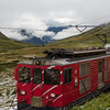Another typical Swiss scene, the narrow gauge alpine trains that go almost everywhere, popping into and out of tunnels.