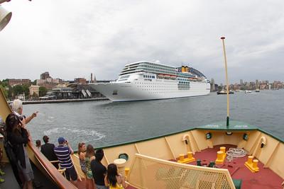 Costa Romantica Arriving into Sydney