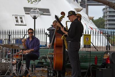 Jazz Quartet Playing Sydney Harbour