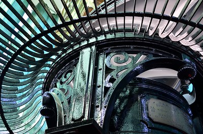 Inside the lighthouse - Westport, Washington