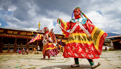 Ura Yakchoe Festival in Ura, Bhutan.