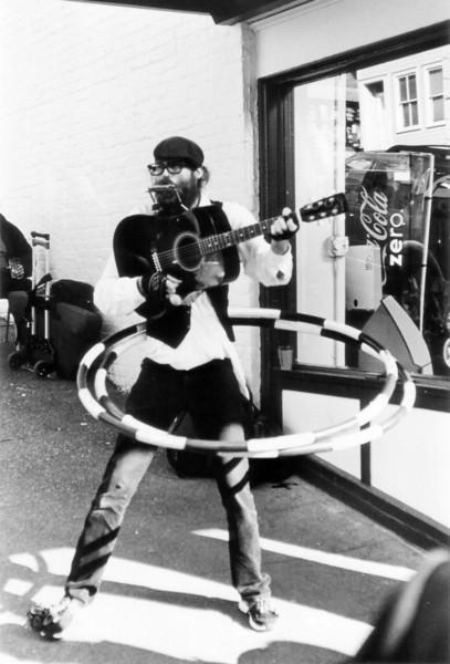 Street musician Emery Carl