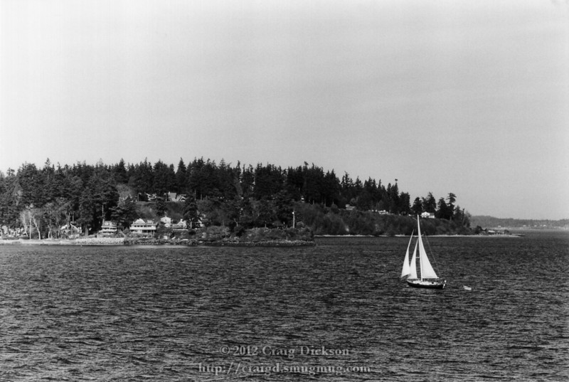 Sailboat off Bainbridge Island