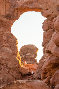 Looking through Turret Arch