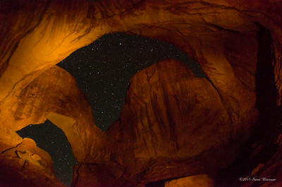 Double Arch Light Painted