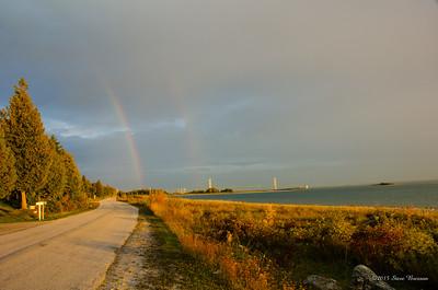 Mackinac Bridge Rainbow