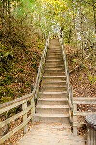 Miners Falls steps