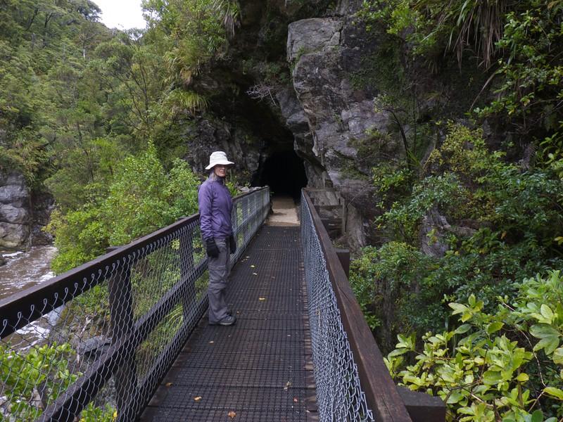 Walkway into tunnel