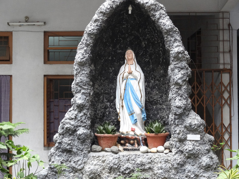At Mother Teresa grave and museum