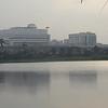 Buildings across lake at Central Park - possibly Muyukh Bhawan