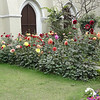 Flowers outside church