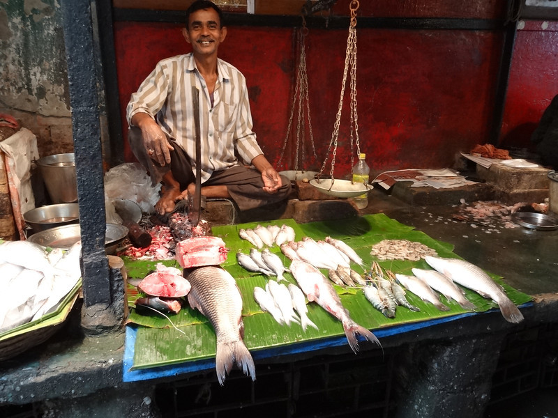 Fresh fish at local market
