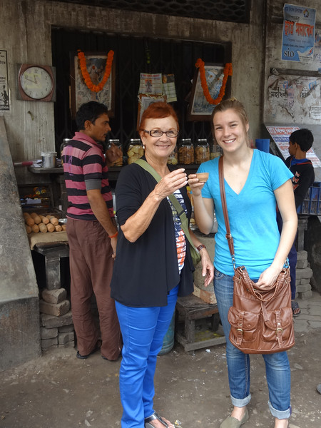 Vadis and Kelly enjoy a cup of Chai