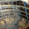 Inside Science City - 5th floor, looking down. The ramp down walks by exhibits to the 2nd floor exit from the building