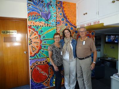 Vadis, Casey Davis & Dwaine at her office in the American Embassy