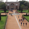 Looking back from Humayun's Mausaleum to the entry gate